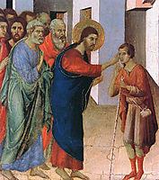 Healing the man born blind (Fragment), 1311, duccio