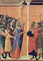 The high priests before Pilate, 1311, duccio