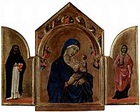 London triptych, Madonna with angels and prophets, 1305, duccio