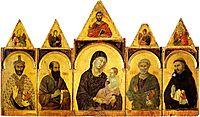 The Madonna and Child with Saints, 1310, duccio