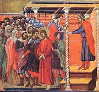 Pilate washes his hands, 1311, duccio