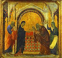 The Presentation in the Temple, 1311, duccio