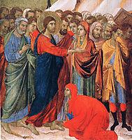 Raising of Lazarus (Fragment), 1311, duccio