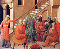 Renunciation of Peter, 1311, duccio
