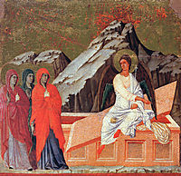 The Three Marys at the Tomb, 1311, duccio