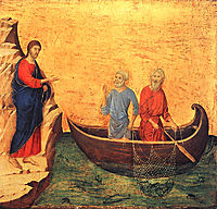 The Calling of the Apostles Peter and Andrew, 1311, duccio