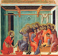 Washing of feet, 1311, duccio