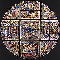Window Showing the Death, Assumption and Coronation of the Virgin, 1288, duccio