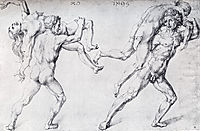 Abduction Of A Woman, Rape Of The Sabine Women, 1495, durer