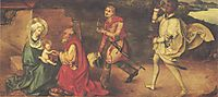 Adoration of kings, 1493, durer