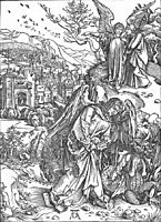 The Angel with the Key to the Bottomless Pit, 1498, durer