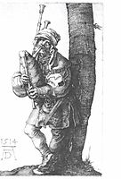 Bagpipes players , 1514, durer