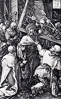 Bearing Of The Cross, Engraved Passion, 1512, durer