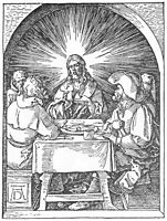 Christ and the Disciples at Emmaus, 1511, durer