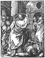 Christ Driving the Merchants from the Temple, 1511, durer