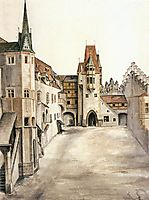 Courtyard of the Former Castle in Innsbruck without Clouds, c.1494, durer