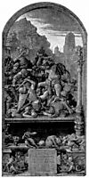 Design for the Fugger Chapel in Augsburg Samson fighting the Philistines, durer