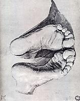 Feet Of A Kneeling Man, 1508, durer