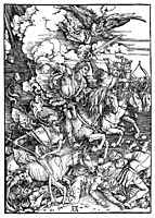 The Four Horsemen of the Apocalypse, Death, Famine, Pestilence and War, 1498, durer