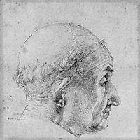 Head of a Pope, durer