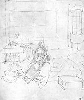 The Holy Family in the Room, durer