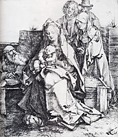 The Holy Family With St. John, The Magdalen And Nicodemus, 1512, durer