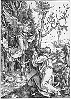 Joachim and the Angel from the -Life of the Virgin-, 1511, durer