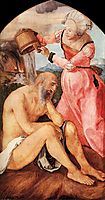 Job and His Wife, 1504, durer