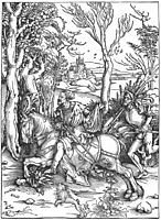 The Knight and the Landsknecht, durer