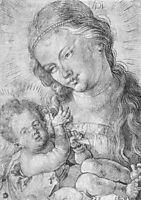Madonna and child in half length, durer