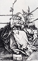 Madonna On A Grassy Bench, 1503, durer