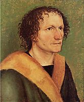 Male portrait before green base , c.1497, durer