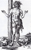 Man Of Sorrows With Hands Raised, 1500, durer