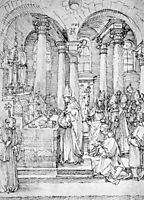 Mass of Cardinal Albrecht of Brandenburg in the Abbey Church Hall, durer