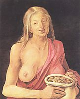 Old with purse , 1507, durer