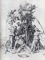 Orpheus Slain By Bacchantes, With A Boy Running Away, 1494, durer