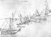 The port of Antwerp during Scheldetor, 1520, durer