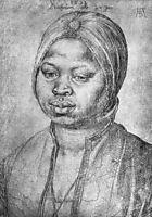 Portrait of African woman Catherine , durer