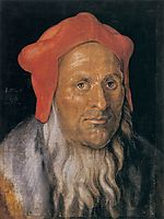 Portrait of a Bearded Man in a Red Hat, 1520, durer
