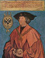 Portrait of Emperor Maximilian I., 1519, durer