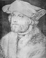Portrait of a Man (Damia van der Goes) , durer