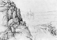 Rock study of hikers, durer
