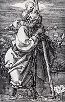 Saint Christopher Facing To The Left, 1521, durer