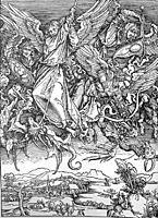 Saint Michael-s Fight Against the Dragon, 1498, durer