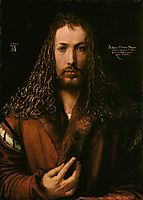 Self-Portrait at the Age of Twenty Eight, 1500, durer