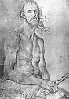 Self-Portrait as the Man of Sorrows, 1522, durer