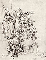 Soldiers under the cross, durer