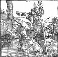 St.Christopher carrying the Infant Christ, 1511, durer