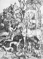 St. Eustace, c.1501, durer