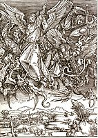 St. Michael and the Dragon, from a Latin edition, 1511, durer